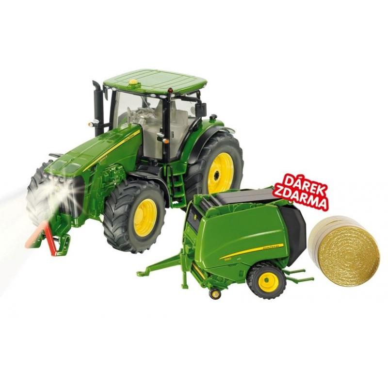 SIKU Control - limitovaná edícia traktor John Deere + vlek JOSKIN 1:32
