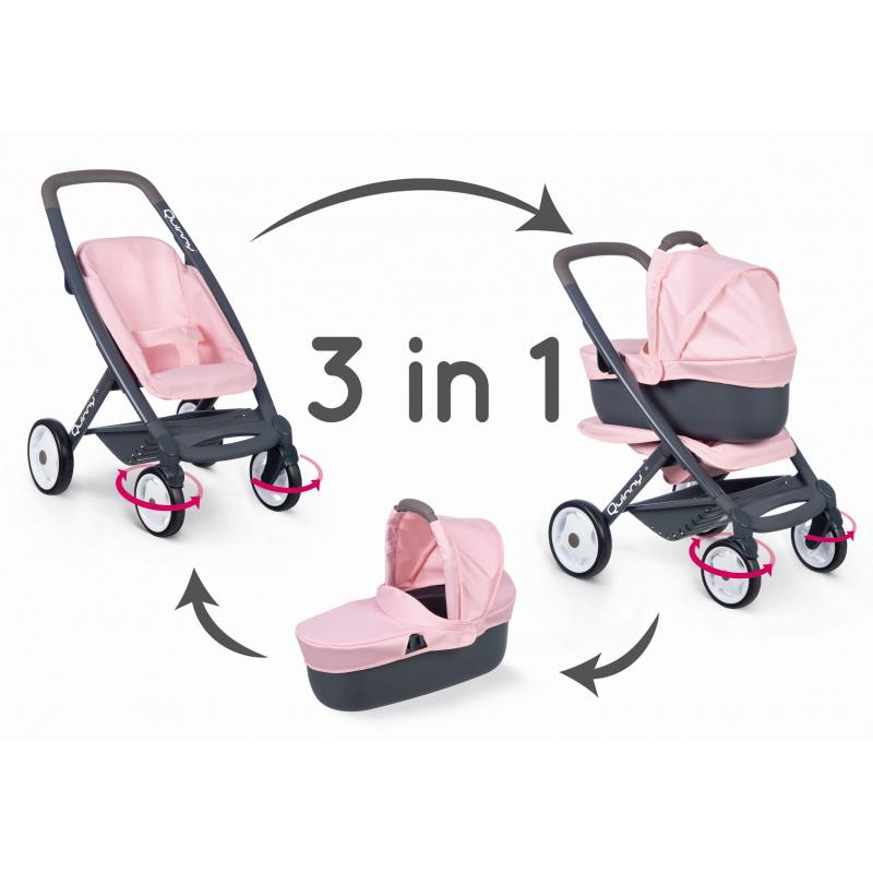 Kombinovaný kočík Maxi Cosi svetlo ružový pre bábiky