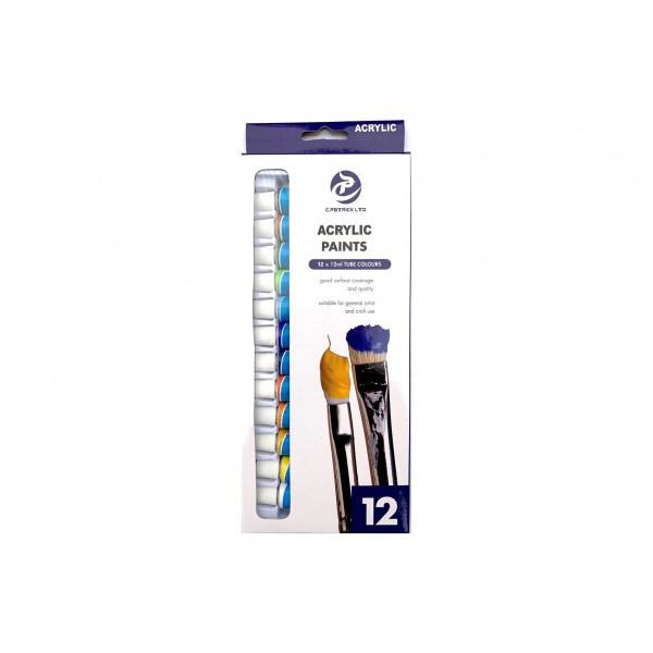 Akrylové farby 12 ks - 12 ml