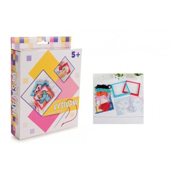 Vyšívání křížkovým stehem kreativní sada v krabici 19x24,5x5cm