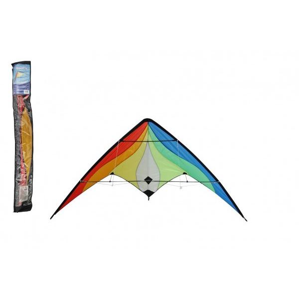 Drak lietajúci nylon 160x80cm farebný v sáčku