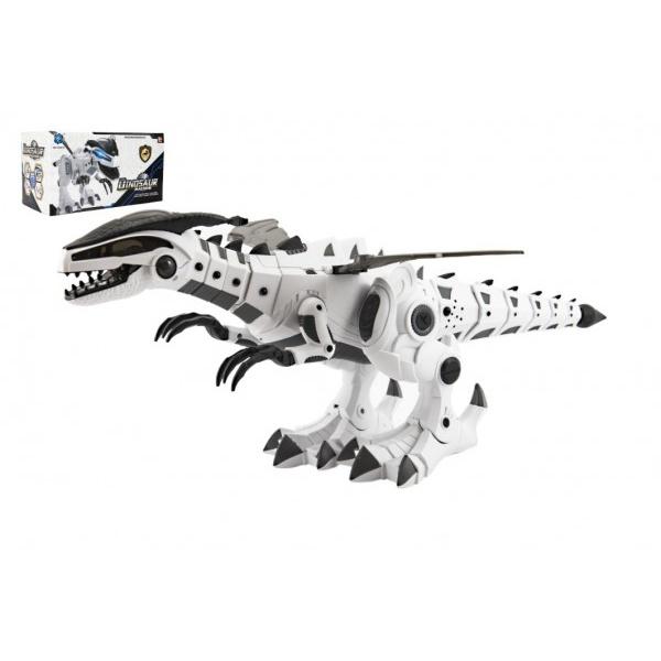 Dinosaurus chodiaci plast 40cm na batérie so zvukom a svetlom