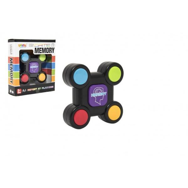 Hra paměťová plast 9cm na baterie v krabičce 12,5x14x4cm