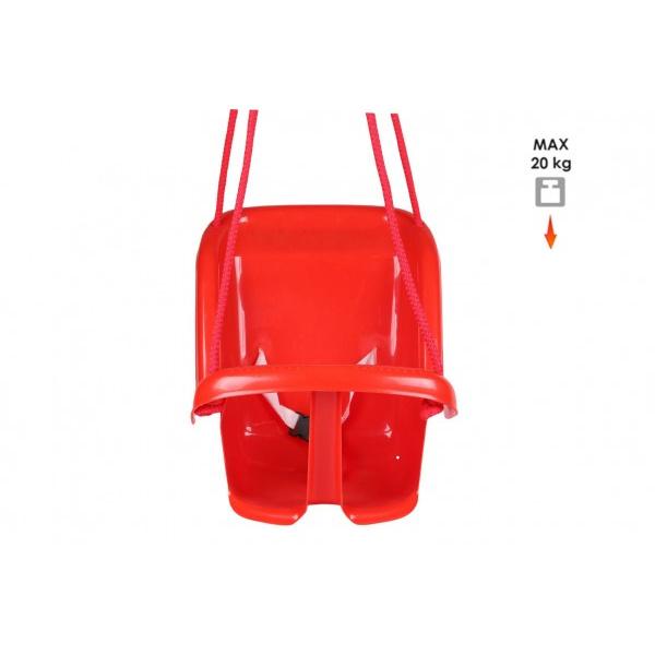 Hojdačka Baby plast červená nosnosť 20kg 35x38x39cm 24m +