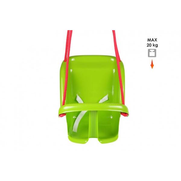 Hojdačka Baby plast zelená nosnosť 20kg 35x38x39cm 24m +