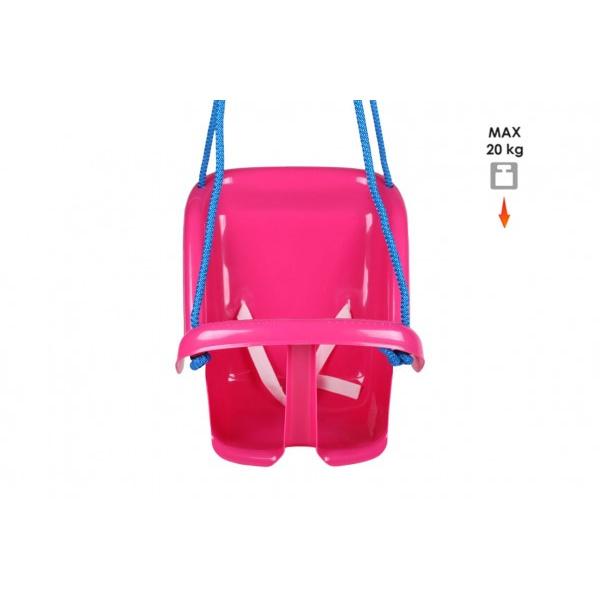 Houpačka Baby plast růžová nosnost 20kg 35x38x39cm 24m+