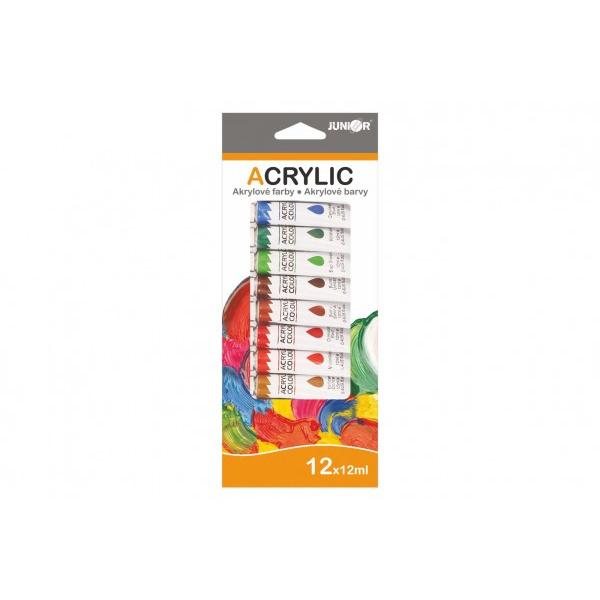 Farby akrylowe 12 ml - 12 szt