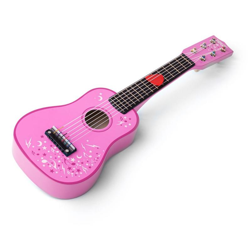 Tidlo Drevená gitara Star ružová