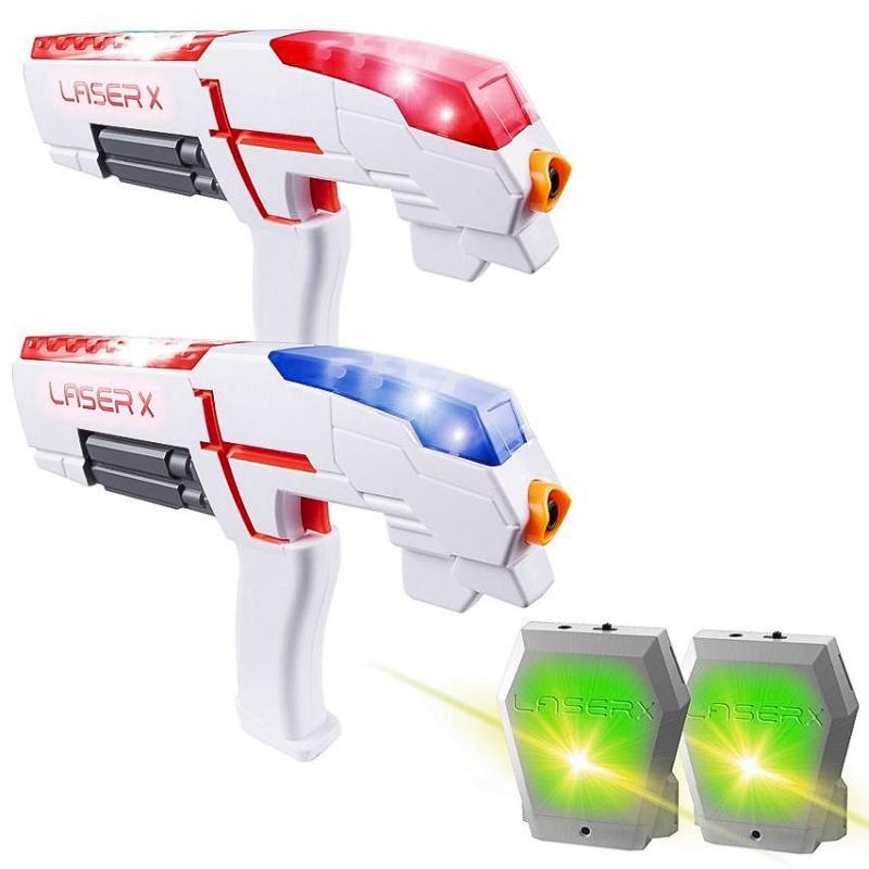 Laser-X pistole na infračervené paprsky – dvojitá sada