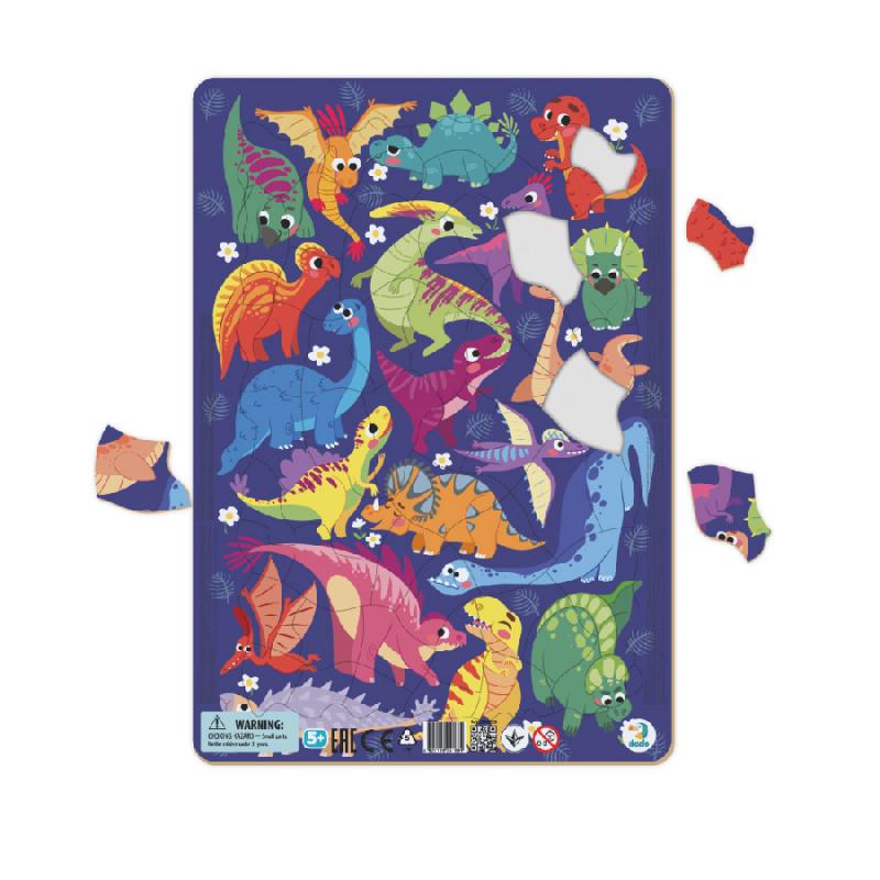 Ramka do puzzli Dinozaury 53 szt