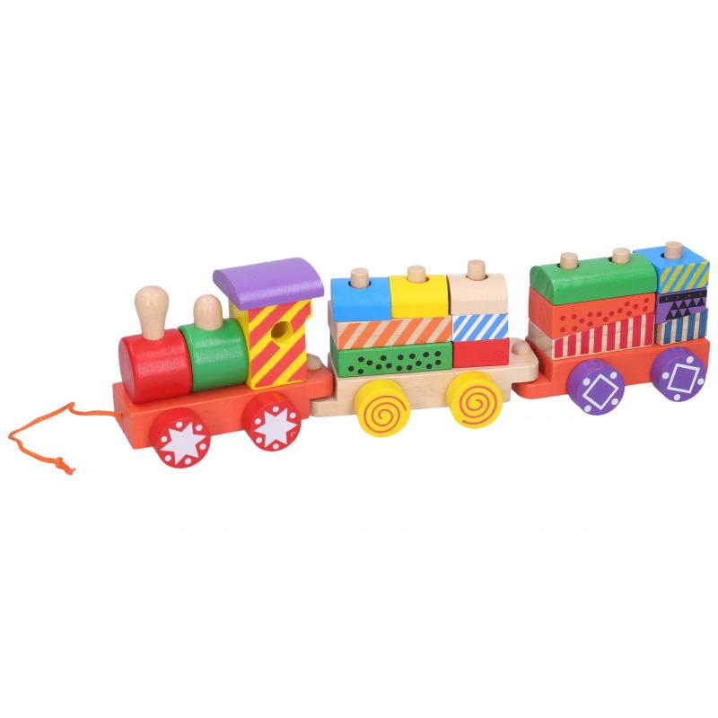 Vlak drevený 31 cm