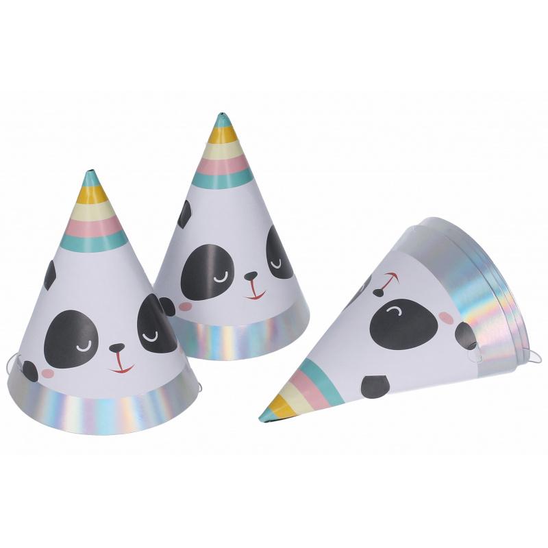 Párty klobúčiky Panda 6ks