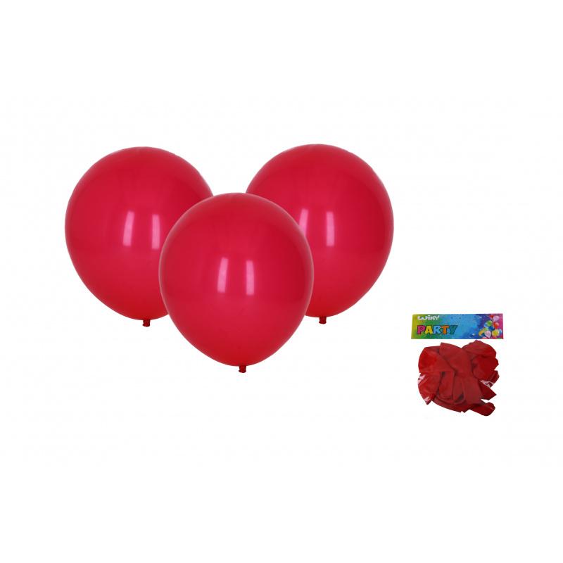 Balónik nafukovacie 30cm - sada 10ks, červený
