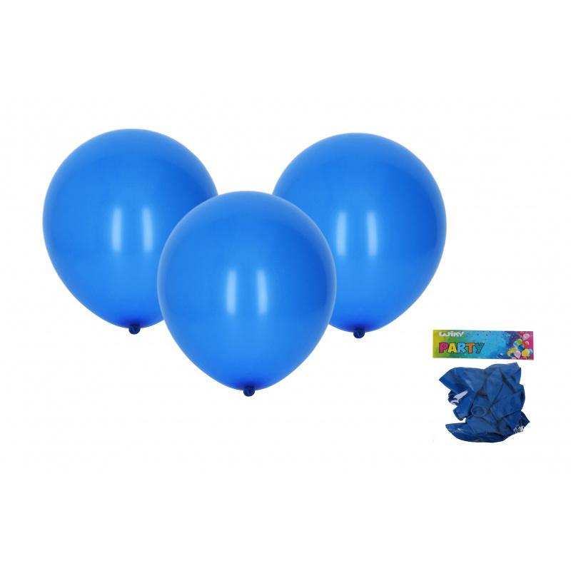 Balónek nafukovací 30cm - sada 10ks, modrý