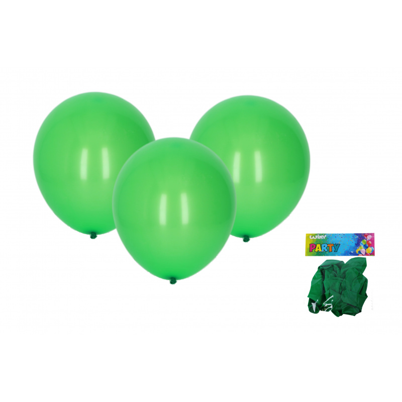 Balónek nafukovací 30cm - sada 10ks, zelený