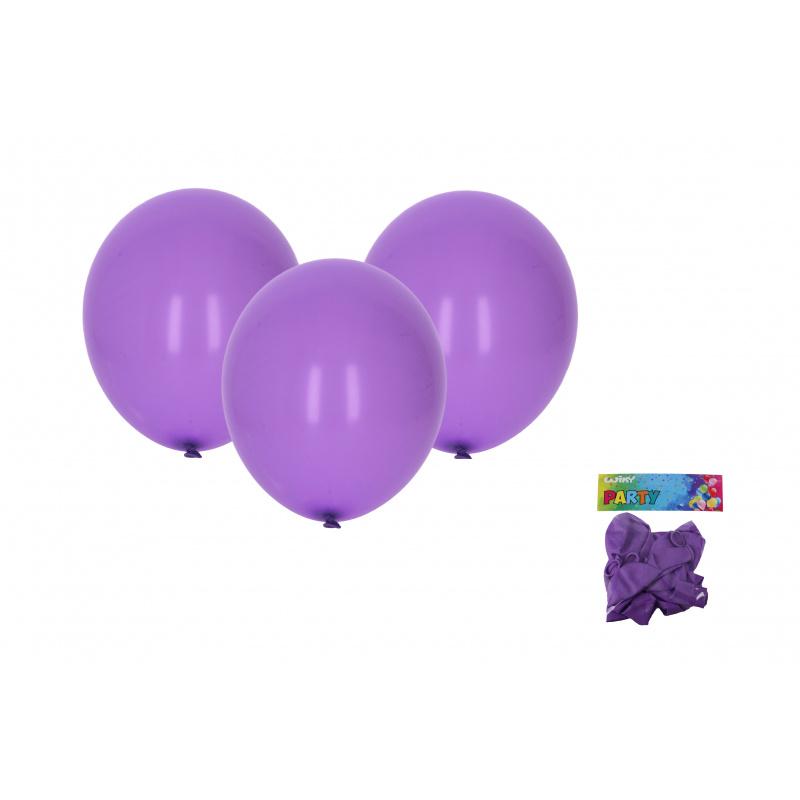 Balónik nafukovacie 30cm - sada 10ks, fialový