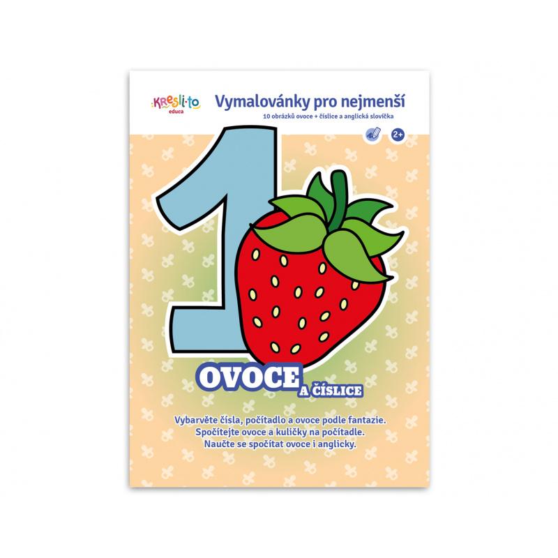 Maľovanky pre najmenších - Ovocie a číslice