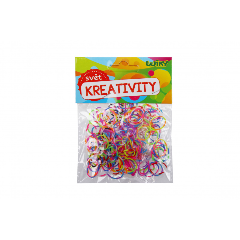 Kúzelné Zaplétač gumičky pruhované, mix farieb 200 ks