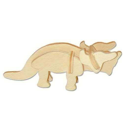 Dřevěná mini skládačka - dinosauři  Triceratops MA1041