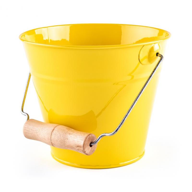 Zahradní kyblík - žlutý, kov