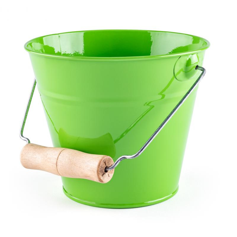 Záhradný kýblik - zelený, kov