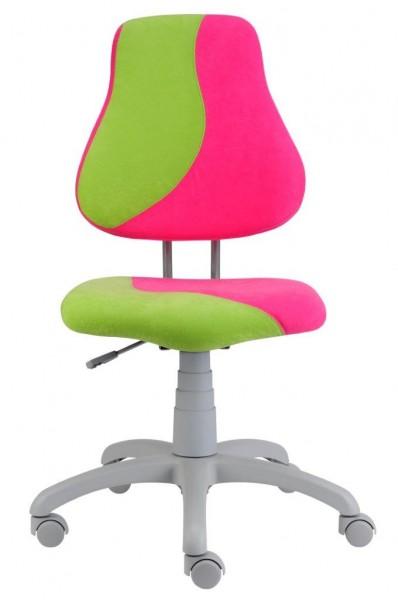 Rostoucí židle Fuxo S Line Suedine růžovo-zelená 341