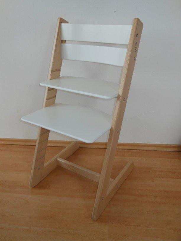 Dětská rostoucí židle JITRO KLASIK bukovo bílá