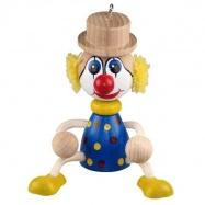 Dřevěné hračky - Na zavěšení - klaun na pružině