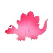 Dřevěné dekorace - dřevěný obrázek - Stegosaurus růžový