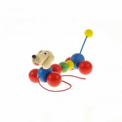 Drevená ťahacia hračka - Jazvečík