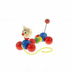 Drevená ťahacia hračka - Mačka
