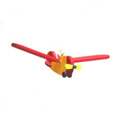 Dřevěné letadlo s pilotem malé
