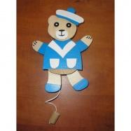 Dřevěný hýbací medvěd