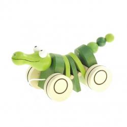 Drevená ťahacia hračka - Krokodíl Klapač