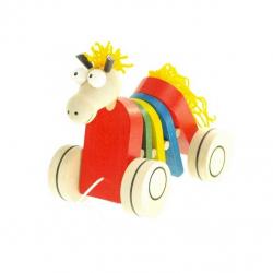 Drevená ťahacia hračka - Kôň klapací
