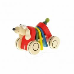 Drevená ťahacia hračka - Pes klapací