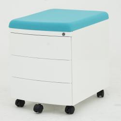 Przenośny, nowoczesny kontejner, box z pokryciem II - niebieski