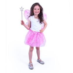 Kostým tutu sukne ružový motýľ s prútikom a krídlami