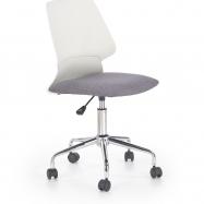 Dětská otočná židle Halmar SKATE šedá-bílá