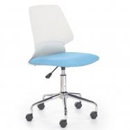 Detská otočná stolička Halmar SKATE modrá-biela