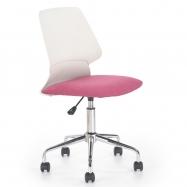Detská otočná stolička Halmar SKATE ružová-biela