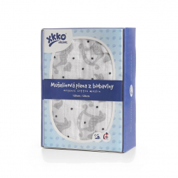 Biobavlnená plienka XKKO Organic 120x120 - Rocking Horses Silver