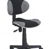 Detská otočná stolička Halmar FLASH čierno - šedá