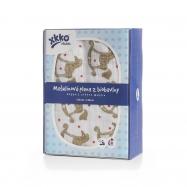 Biobavlněná plienka XKKO Organic 120x120 - Rocking Horses Gold