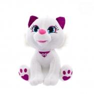 Euro Baby Plyšová kočička 24cm - bílá
