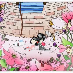 Podkładka dla dzieci na biurko Kwiaty