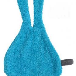 Śliniak frote z uszami Jollein turkusowy