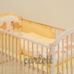 Komplet 3 częściowy do łóżeczka Smok - żółty