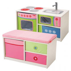 Haba Dětská kuchyňka a lavice 2 v 1 HH8085