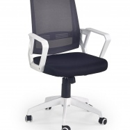 Studentská otočná židle Halmar ASCOT černá-bílá